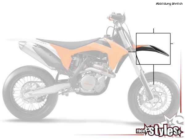 KTM SX-SXF/EXC-EXCF Kotflügel Supermoto, ohne Dekor, in verschiedenen Farben erhältlich. Exakt pass