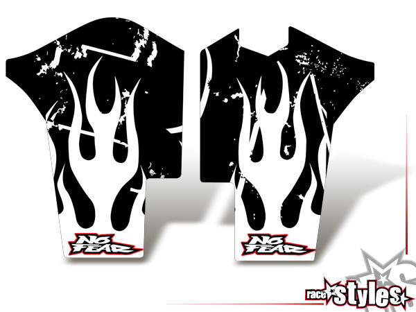 Skull-FMX Gabelprotektoren Dekor li./re. für KTM SX / SX-F (2011-2012, 2013-2015) und EXC / EXC-F / SMR (2012