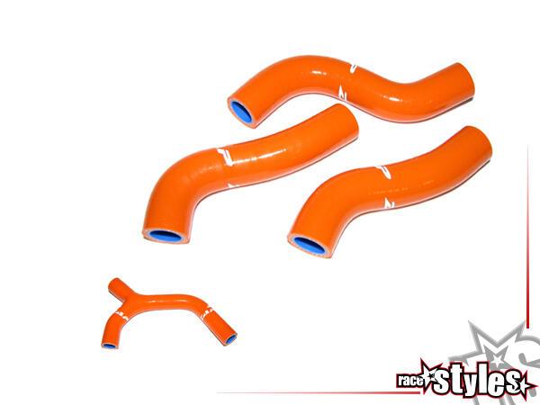 ZAP Kühlerschläuche mit Hochglanz-Finish. Die Silikon Schläuche bestehen aus 3-4 Schichten Polyeste