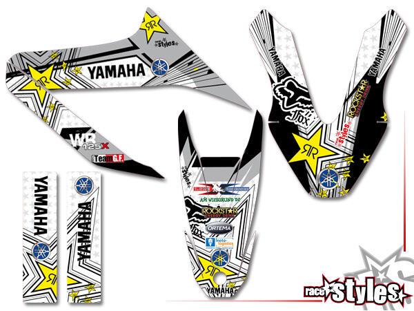 Street-LINE Basic Dekor-Kit für YAMAHA WR 125X / 125R (2009-2017) bestehend aus Gabel li./re., Kotflügel vo./hi