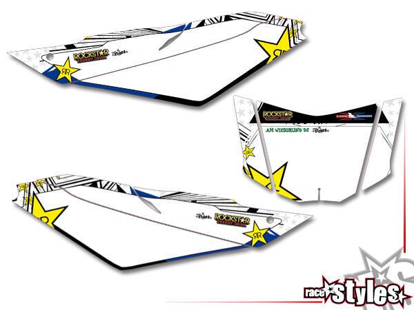 Street-LINE Startnummernfelder Dekor-Kit für YAMAHA WR 125X / 125R (2009-2017).