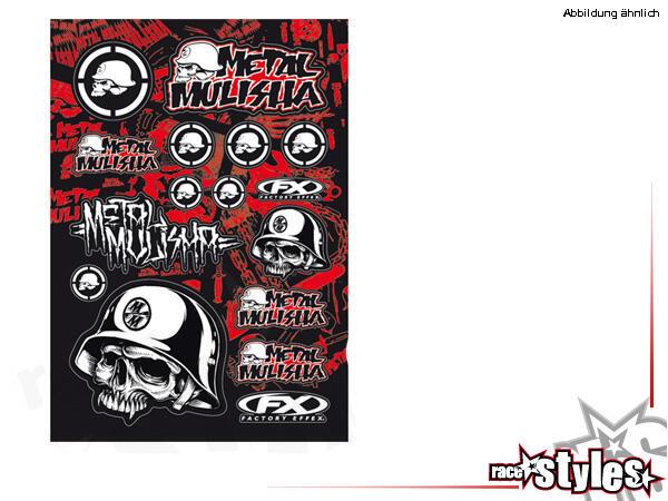 Sponsor Aufkleber Kit Metal Mulisha von FX. Größe ca. 51x35cm.