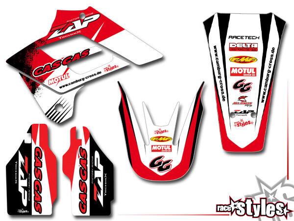 Basic Dekor-Kit für GasGas EC / MC ( 125 200 250 300) Modelle 2005-2020 bestehend aus Gabel li./re.