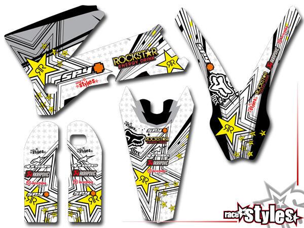 Silver-LINE Basic Dekor-Kit für KTM SX / SX-F (1998-2006) und EXC / EXC-F / SMR (1998-2007) bestehend aus Gabel