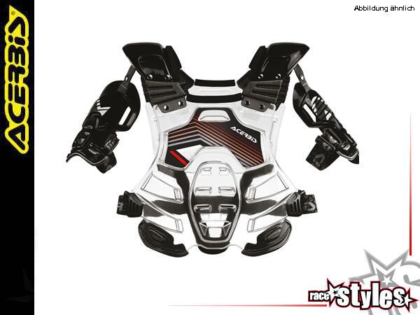 Acerbis Bomber Brustpanzer. MATERIAL: eingefärbter bzw. transparenter Kunststoff. AUSSTATTUNG: Kant
