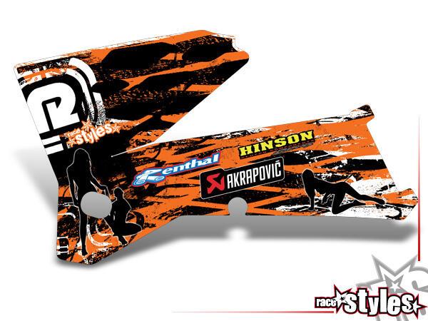 Graffiti-FX Kühlerspoiler Dekor li./re. für KTM SX / SX-F (1998-2006) und EXC / EXC-F / SMR (1998-2007).