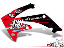 LTD.-Edition Kühlerspoiler Dekor li./re. für HONDA CR / CRF (125 150 250 450) Modelle 1990-1999, 2000-2020.
