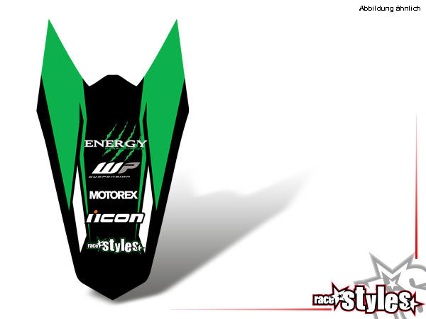 AMA-LTD. Heckkotflügel Dekor für KTM SX / SX-F (2007-2010) und EXC / EXC-F / SMR (2008-2011).