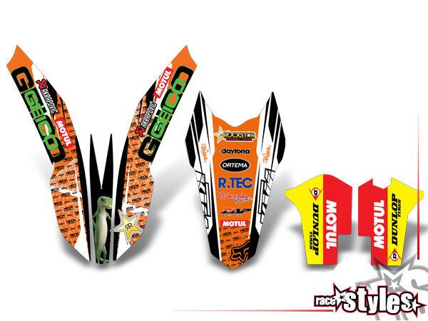 KTM TRIM KIT für KTM SX / SX-F (2011-2012, 2013-2015) und EXC / EXC-F / SMR (2012-2013, 2014-2016).