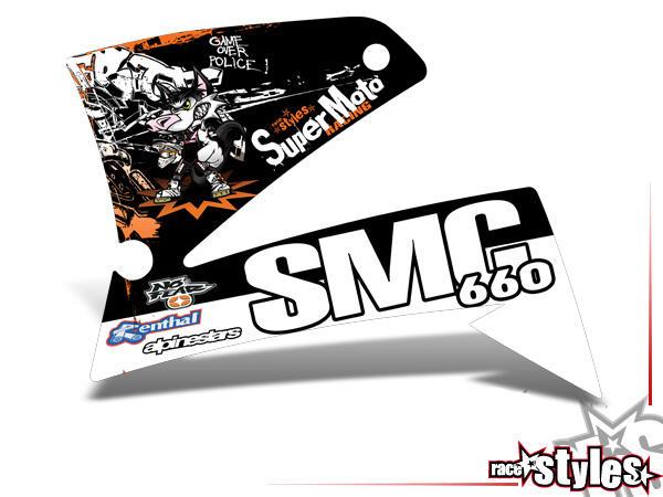 Graffiti-FX Kühlerspoiler Dekor li./re. für KTM LC4 - SXC / SM / SMC / DUKE 620-660 (1998-2007).