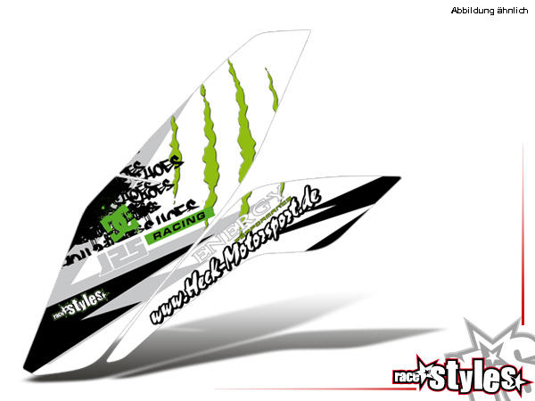 Kühlerspoiler Dekor li./re. für KTM 125 / 200 Duke 2011-2018.