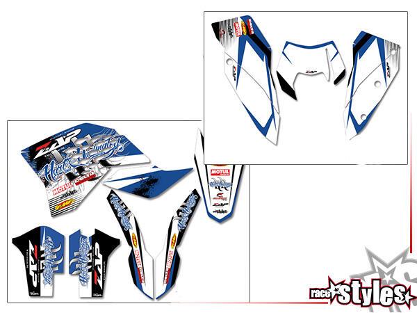 DEKOR FULL-KIT für KTM SX / SX-F (2007-2010) und EXC / EXC-F / SMR (2008-2011). Die Hintergrundfarb