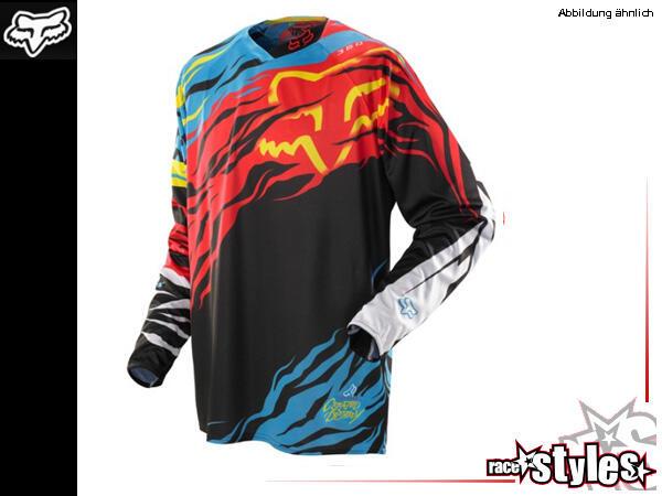 FOX 360 Forzaken Jersey. Hauptkörper aus Polyester mit Mesh Panel im Rückenbereich für verstärkte L