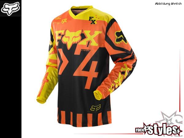 FOX HC Anthem Jersey. Außergewöhnliche, sublimierte Grafiken für verblassungsfreies Waschen. Sportl