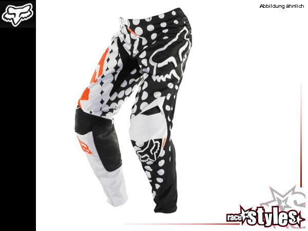 FOX 360 KTM Pant. 900D Polyester Material im Hauptkörper für lange Haltbarkeit. Ergonomisch vorgefo