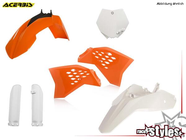 Plastik-Kit original für diverse KTM SX65 Modelle. Der Kit setzt sich wie folgt zusammen:- Gabelpro