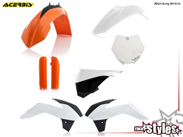 Plastik-Kit original für diverse KTM SX85 Modelle. Der Kit setzt sich wie folgt zusammen:- Gabelpro