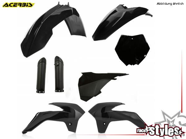 Plastik-Kit schwarz für diverse KTM SX85 Modelle. Der Kit setzt sich wie folgt zusammen:- Gabelprot