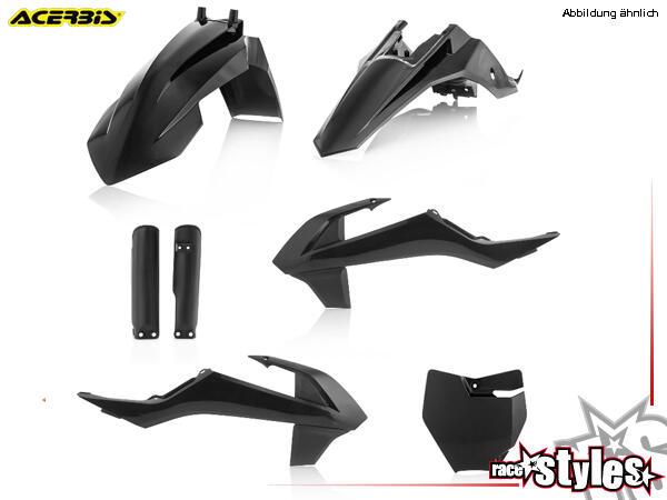 Plastik-Kit schwarz für diverse KTM SX65 Modelle. Der Kit setzt sich wie folgt zusammen:- Schutzble