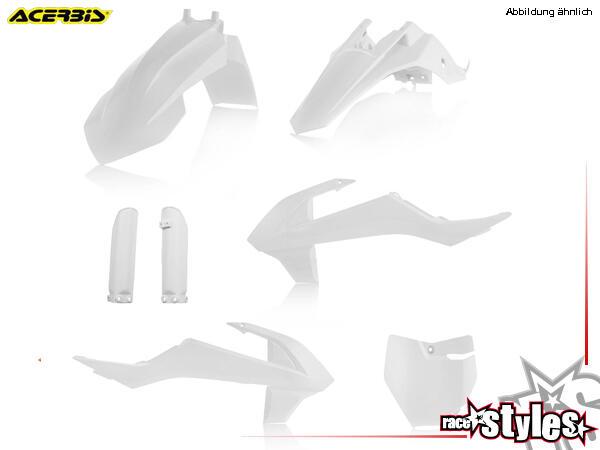 Plastik-Kit weiß für diverse KTM SX65 Modelle. Der Kit setzt sich wie folgt zusammen:- Schutzblech