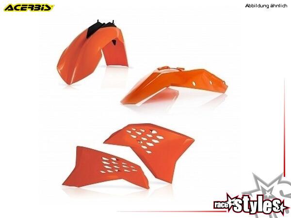 Plastik-Kit orange für diverse KTM Modelle. Der Kit setzt sich wie folgt zusammen:- Schutzblech vor