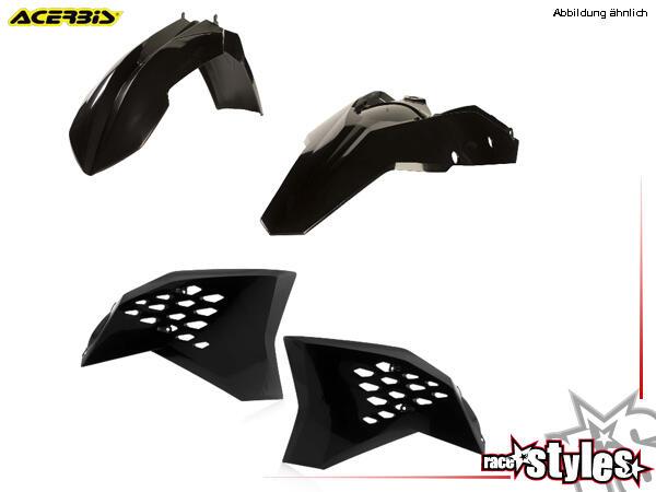 Plastik-Kit schwarz für diverse KTM Modelle. Der Kit setzt sich wie folgt zusammen:- Schutzblech vo