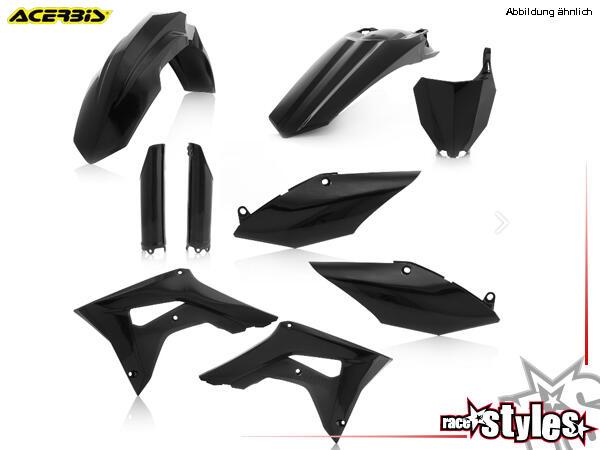 Plastik-Kit schwarz für diverse HONDA Modelle. Der Kit setzt sich wie folgt zusammen:- Gabelprotekt