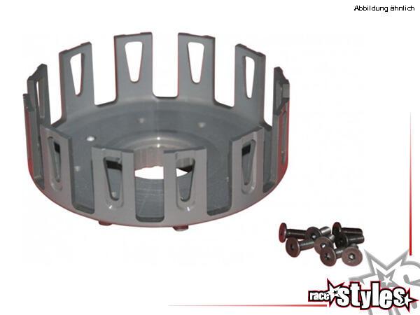 H-ONE Kupplungskorb KIT. Material: Aluminium Ergal mit hartbeschichteter Oberfläche.