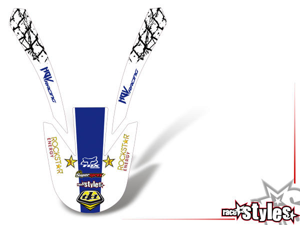 Graffiti-FX Kotflügel Dekor für HUSQVARNA SM / SMR / WR / WRE / CR / TC / TE Modelle ab 2000-2013.