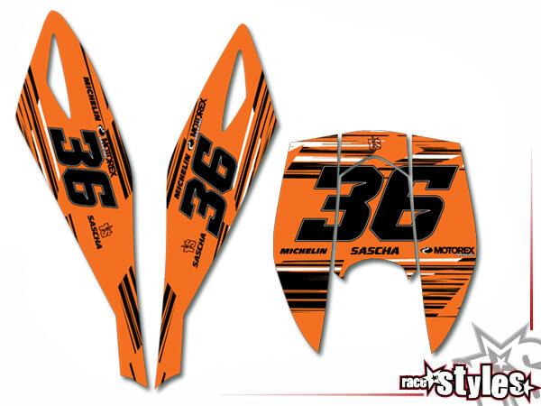 Startnummernfelder Dekor-Kit für KTM Duke II 640 E (1998-2007).