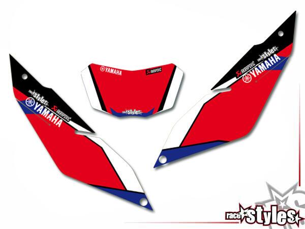 Factory-MX Startnummernfelder Dekor-Kit für YAMAHA WR 125X / 125R (2009-2017).