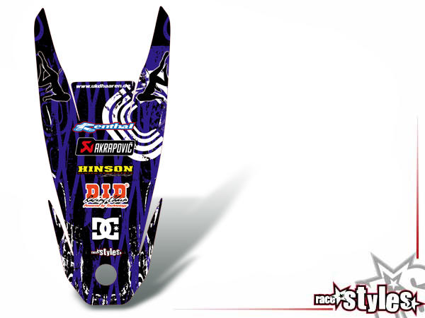 Skull-FMX Heckkotflügel Dekor für YAMAHA WR 125X / 125R (2009-2017).