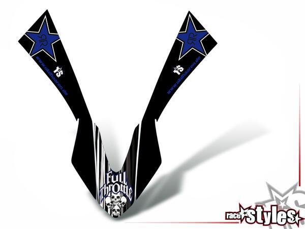 Skull-FMX Kotflügel Dekor für YAMAHA WR 125X / 125R (2009-2017).