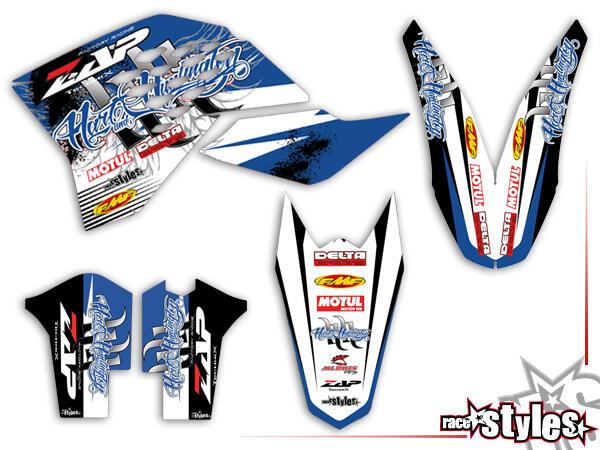 Huntington Basic Dekor-Kit für KTM SX / SX-F (2007-2010) und EXC / EXC-F / SMR (2008-2011) bestehend aus Gabel