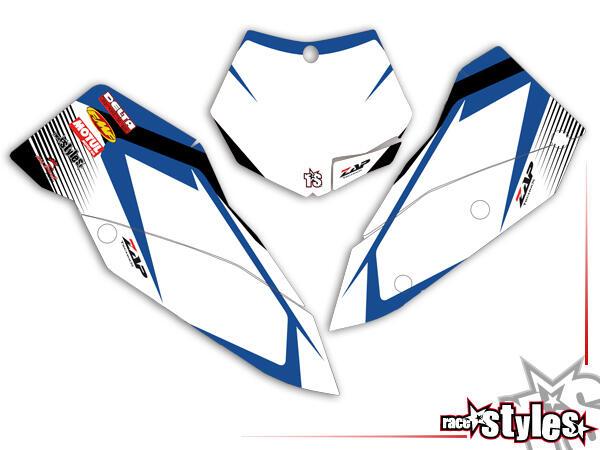 Huntington Startnummernfelder Dekor-Kit für KTM SX / SX-F (2007-2010) und EXC / EXC-F / SMR (2008-2011). inkl.