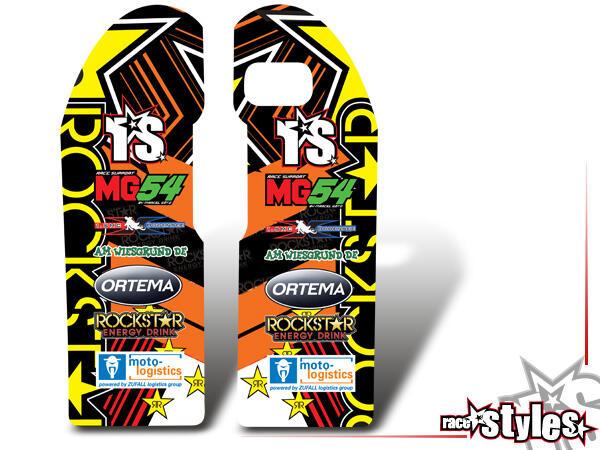 Rockstar-MX Gabelprotektoren Dekor li./re. für KTM SX / SX-F (2011-2012, 2013-2015) und EXC / EXC-F / SMR (2012