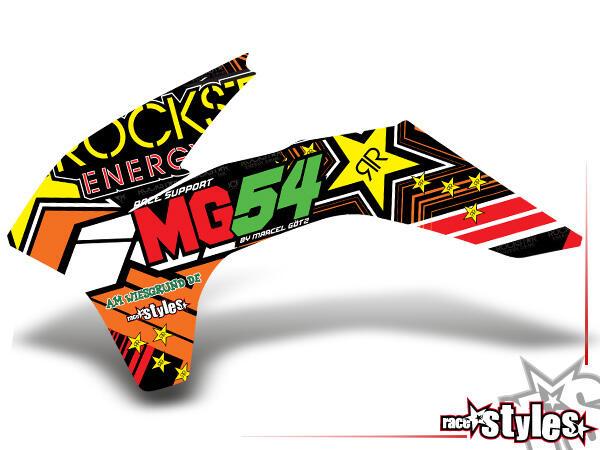 Rockstar-MX Kühlerspoiler Dekor li./re. für KTM SX / SX-F (2011-2012, 2013-2015) und EXC / EXC-F / SMR (2012-20