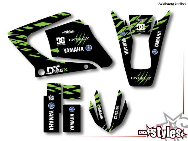 Basic Dekor-Kit für YAMAHA DT 125 R / RE / X Modelle 2000-2015 bestehend aus Gabel li./re., Kotflüg