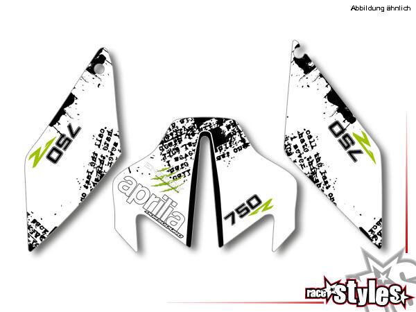 Brandings Startnummernfelder Dekor-Kit für APRILIA Dorsoduro 750 / 900 / 1200, 2008-2020.