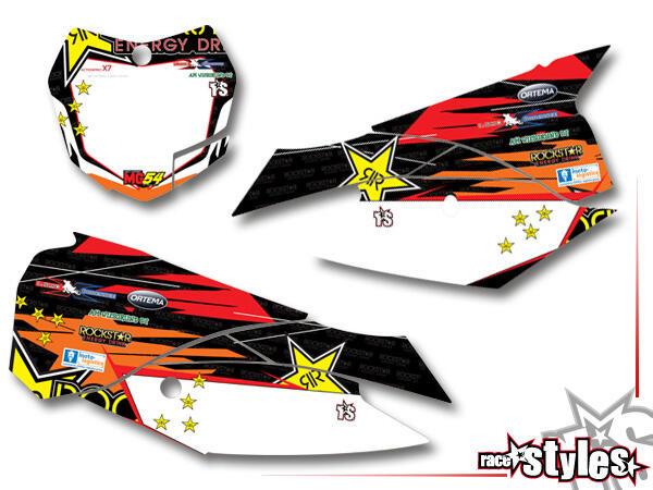 Startnummernfelder Dekor-Kit für KTM SX / SX-F (2011-2012, 2013-2015) und EXC / EXC-F / SMR (2012-2