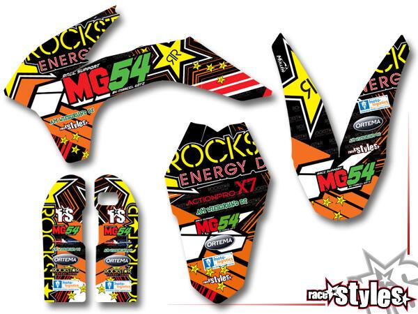 DEKOR FULL-KIT für für KTM SX / SX-F (2011-2012, 2013-2015) und EXC / EXC-F / SMR (2012-2013, 2014-