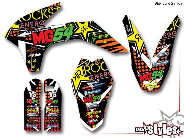Rockstar-MX Basic Dekor-Kit für KTM SX / SX-F (2011-2012, 2013-2015) und EXC / EXC-F / SMR (2012-2013, 2014-201