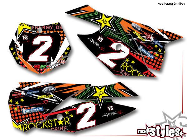 Rockstar-MX Startnummernfelder Dekor-Kit für KTM SX / SX-F (2011-2012, 2013-2015) und EXC / EXC-F / SMR (2012-2