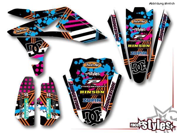 Brandings Basic Dekor-Kit für HUSQVARNA SM / SMR / WR / WRE / CR / TC / TE Modelle ab 2000-2013 bestehend aus
