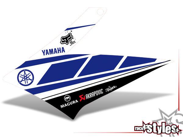 Kühlerspoiler Dekor li./re. für YAMAHA XT660 R/X (2004-2014).