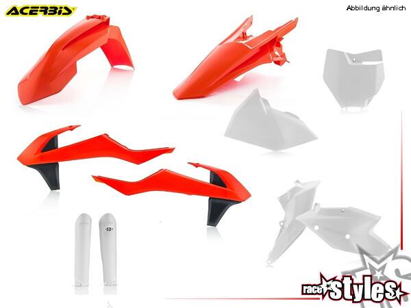 Plastik-Kit original für diverse KTM Modelle. Der Kit setzt sich wie folgt zusammen:- Gabelprotekto