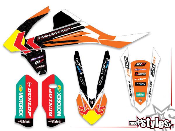 Brandings Basic Dekor-Kit für KTM SX / SX-F (2016-2017, 2018-2020) und EXC / EXC-F (2017-2019, 2020-2021) bes