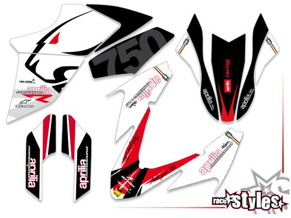 LTD.-Edition Basic Dekor-Kit für APRILIA Dorsoduro 750 / 900 / 1200, 2008-2020 bestehend aus Gabel li./re., Kotf