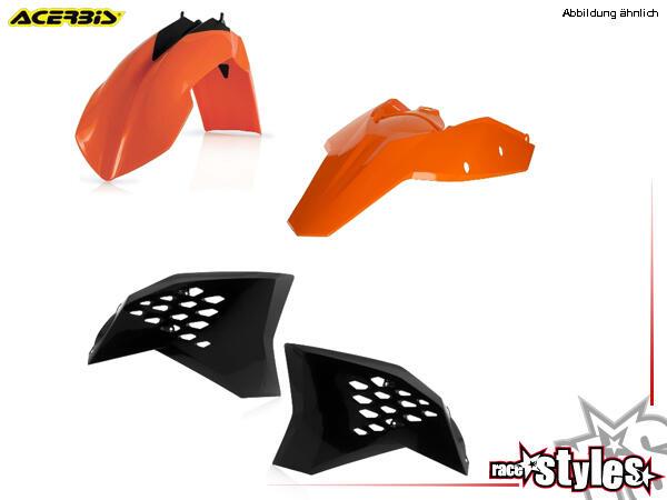 Plastik-Kit original für diverse KTM Modelle. Der Kit setzt sich wie folgt zusammen:- Schutzblech v