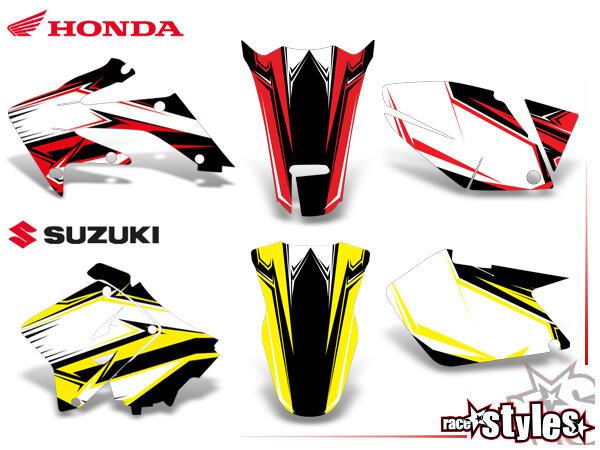 Mit dieser Option kann ein Graphic-Kit (z. B. Honda CRF 450, 2008) in einen Kit deiner Wahl (z. B.